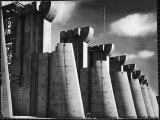Fort Peck Dam as Featured on the Very First Cover of Life Magazine Premium Photographic Print by Margaret Bourke-White