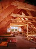 Interior of a Prefabricated House on Block Island Premium Photographic Print by John Zimmerman