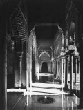Magnificently Decorated Columns and Arches in an Arcade at the Alhambra Palace Photographic Print by David Lees