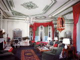Living Room of the Vertes Suite, Decorated by Lady Mendl, at the Plaza Hotel Premium Photographic Print by Dmitri Kessel