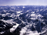 Aerial View of the Himalayas Premium Photographic Print by James Burke