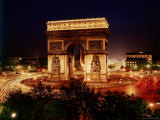 Arc de Triomphe in Place de L'Etoile at Night Photographic Print by Eliot Elisofon