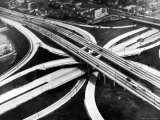 Aerial View of Hub of the Freeway System Including the Hollywood Freeway and the Harbor Freeway Premium Photographic Print by J. R. Eyerman