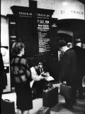 Commuters on the New York New Haven Line Catching Evening Train from Grand Central Station Premium Photographic Print by Alfred Eisenstaedt
