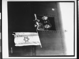 Jewish Children Holding Flag with Star of David, After Release from Buchenwald Concentration Camp Premium Photographic Print by James E. Myers