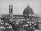 Photo Showing the Duomo Cathedral of Florence and Surrounding Area Photographic Print