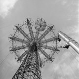The Parachute Jump Ride at Steeplechase Park, a Coney Island Amusement Park Photographic Print by Ed Clark