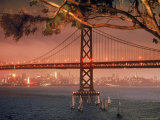 Bay Bridge at Sunset Premium Photographic Print by Ralph Crane