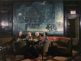 Oak Room Bar at the Plaza Hotel Stands Where a Wall Street Broker Once Had an Office Photographic Print by Dmitri Kessel