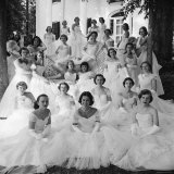 Debutants at Summer Party Photographic Print by Lisa Larsen