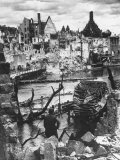 Bombed Water Intake of Pegnitz River No Longer Supplies War Factories in Nuremberg, Photographic Print