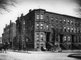 Brownstone Apartment Building at the Corner of Brooklyn Ave. and Pacific St Photographic Print by Wallace G. Levison