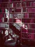 Library Study at Chartwell, Home of Former British Pm Winston Churchill Premium Photographic Print by William Sumits