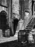 Barrels and Staircase in Alley on the Bowery, New York Premium Photographic Print by Emil Otto Hoppé