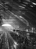 Interior of a London Railroad Station Premium Photographic Print