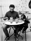 James Davis and His Pet Chimpanzee Premium Photographic Print by Ralph Crane