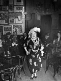 Entertainer Dora Pelletier Singing at Sammy's Bowery Follies Photographic Print by Alfred Eisenstaedt