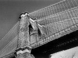 Detail of the Brooklyn Bridge Premium Photographic Print by Alfred Eisenstaedt