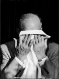 Dwight D. Eisenhower Emotionally Crying After His Speech at the 82nd Airborne Luncheon Premium Photographic Print by Hank Walker