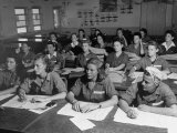 Women's Flying Training Detachment, Pilots in Training For the Women's Auxiliary Ferrying Squadron Premium Photographic Print by Peter Stackpole