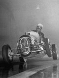 Man Racing in the Midget Auto Race Photographic Print by Ralph Morse