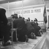 People Praying at Salvation Army Meeting Photographic Print by Tony Linck