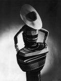 Model Showing Off Mushroom Pleats in the Slim Sheaths Premium Photographic Print by Gjon Mili