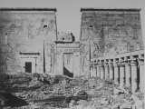 Western Colonnadel of the Temple of Isis on Island of Philae in Middle of the Nile Below Aswan Premium Photographic Print by C.g. Fontaine