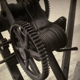 Machine Mechanism Device For Hoisting Fish Nets Photographic Print by Bert Kopperl