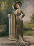 Madame Germaine Gallois Wearing Gray Satin Afternoon Dress Designed by Bernard Premium Photographic Print by  Felix