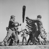 Men Performing Log Exercises on a Toughening Up Course at Fort Bragg Photographic Print by William C. Shrout