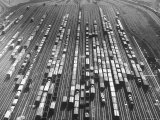 Aerial View Showing the Belt Railroad Clearing Yard Premium Photographic Print by Horace Bristol