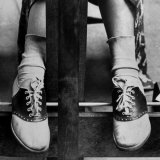 College Coed Sporting, Ubiquitous Saddle Shoes Photographic Print by Alfred Eisenstaedt