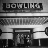 Members of a Women's Bowling League Exiting the Bowling Alley Photographic Print by Charles E. Steinheimer