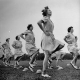 WACs Doing Daily Calisthenics Exercises Photographic Print by Marie Hansen