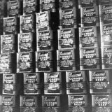 Canned Corn Beef Waiting to Be Exported Photographic Print by Hart Preston