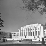 Exterior View of Great Hall at League of Nations Photographic Print by William Vandivert