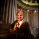 Senator John McCain at US Capitol Photographic Print by Ted Thai