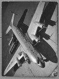 World's Largest Land Transport Plane, the Super Mainliner, a Douglas DC-4 Parked at Airport Premium Photographic Print by Margaret Bourke-White