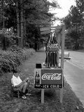 Boy Selling Coca-Cola from Roadside Stand Photographic Print by Alfred Eisenstaedt