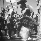 Zulu Warrior Delivering Messages Between the Chief and His Councilors Photographic Print by Hart Preston