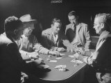 Blackjack Game in Progress at Las Vegas Club Photographic Print by Peter Stackpole