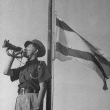 Young Jewish Boy Blowing His Bugle Horn Photographic Print by John Phillips