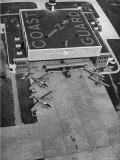 Aerial View of Hangar and Airplanes at a US Coast Guard Air Station Premium Photographic Print by David Scherman