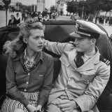 US Navy Flier and His Date Sightseeing in Casablanca Photographic Print by Eliot Elisofon