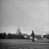 Senator George W. Norris Walking to Work Photographic Print by Thomas D. Mcavoy