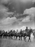 Cavalry in Maneuvers at Ft. Francis Warren Premium Photographic Print by Horace Bristol