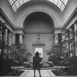 Woman Visiting the Mellon Art Gallery Photographic Print by John Phillips