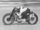 Daytona Beach Motorcycle Races Photographic Print by Joe Scherschel