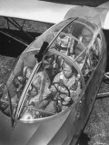 Close Up of Soldiers Sitting in Glider Premium Photographic Print by Dmitri Kessel